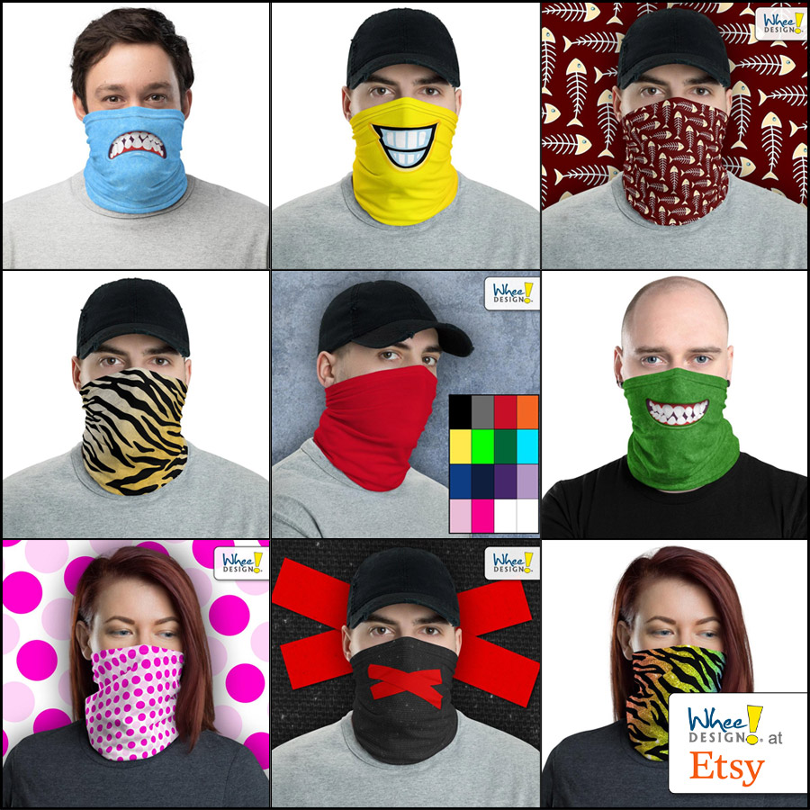 Whee! Design Face Masks at Etsy