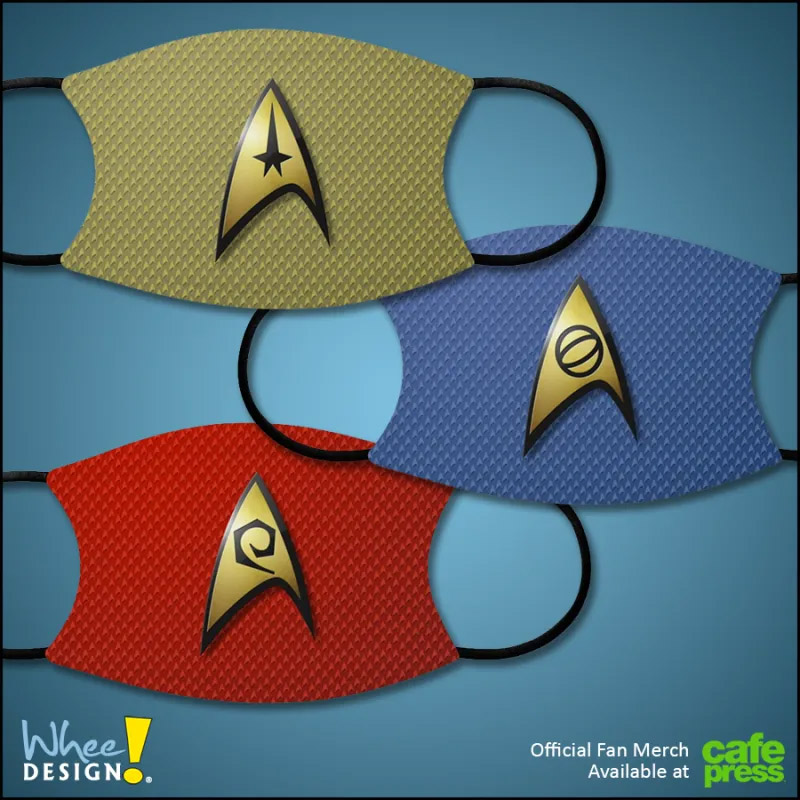 Star Trek: The Original Series Inspired Face Masks
