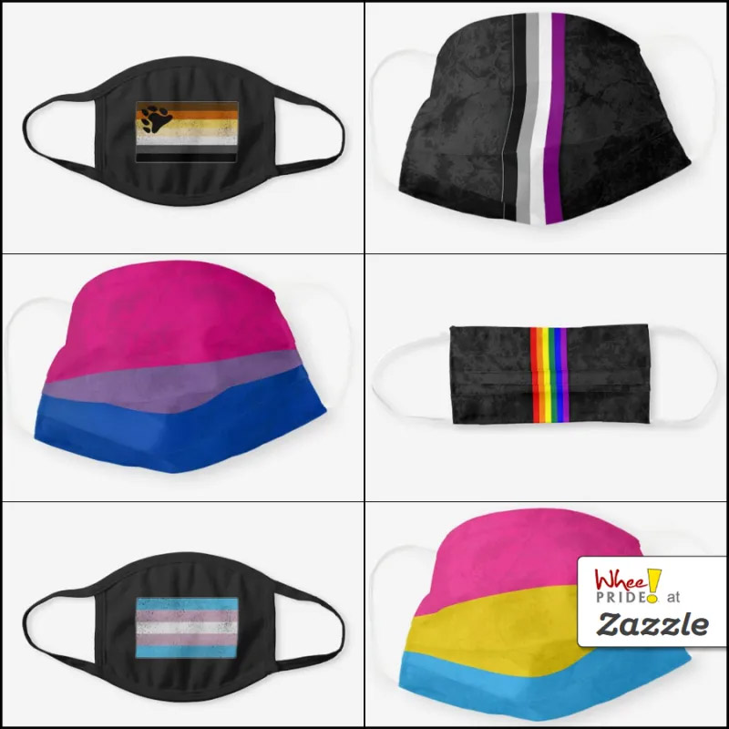 Whee! Pride Face Masks at Zazzle